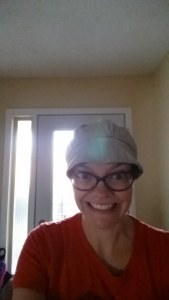 This is how I looked all day. Just more reasons to love hats!!